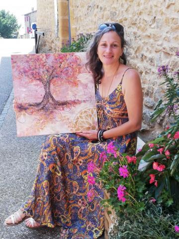 arbre de vie, peinture, peinture énergétique